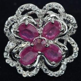 41.5twc Ruby Gold Vermeil Ring