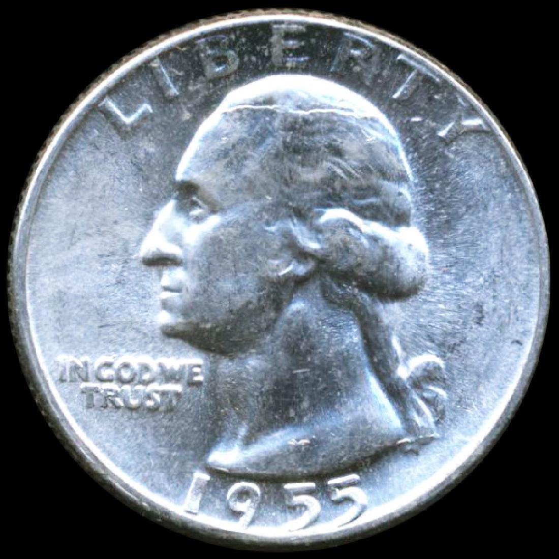 1955 Washington 25c Gem GEM ERROR