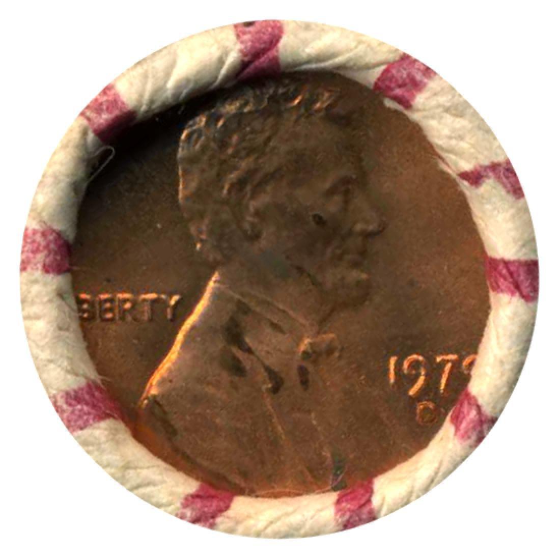 1979D Cent UnOpened Original Bank Roll 50 GEMS