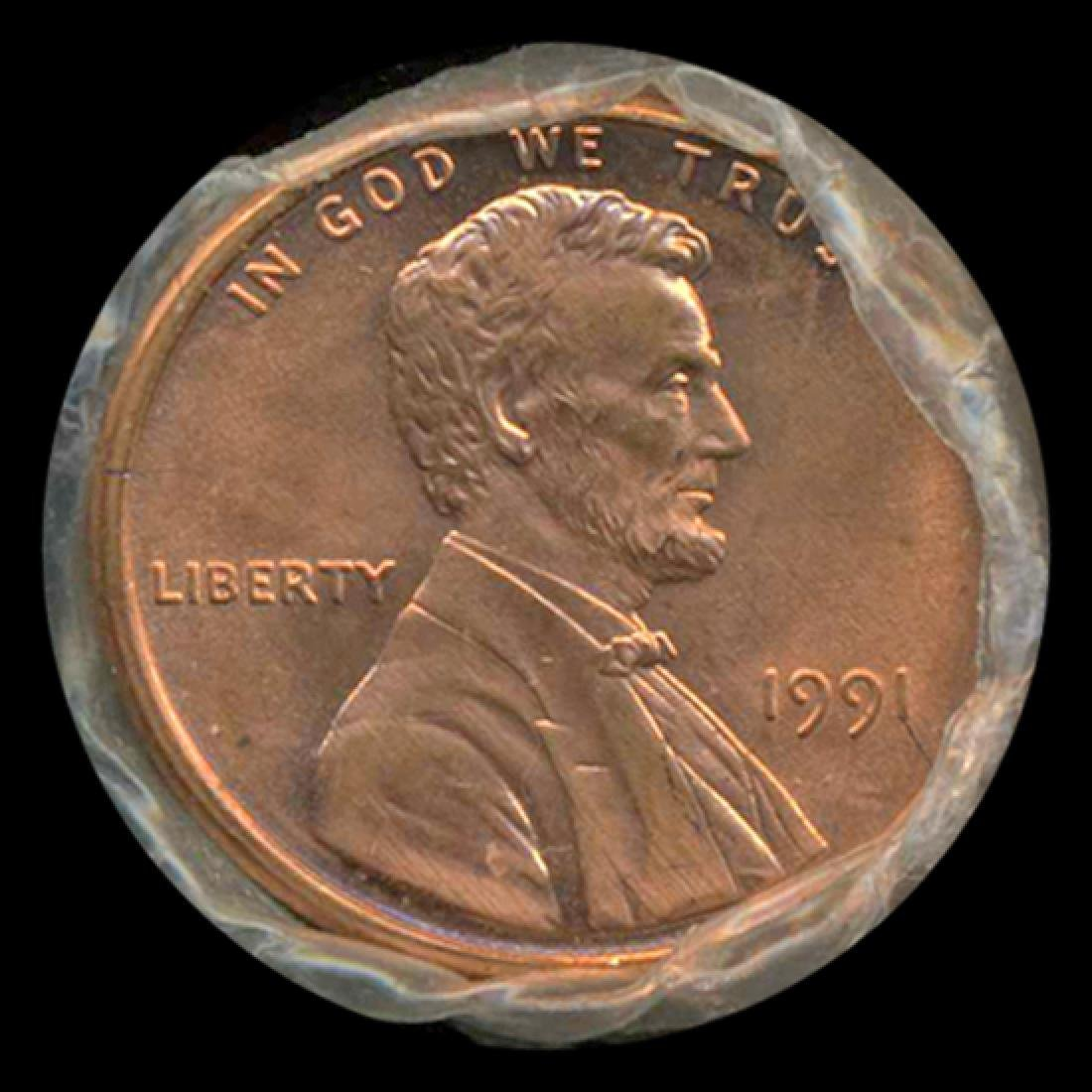 1991 Lincoln Cent Scarce Never Opened Original Bank
