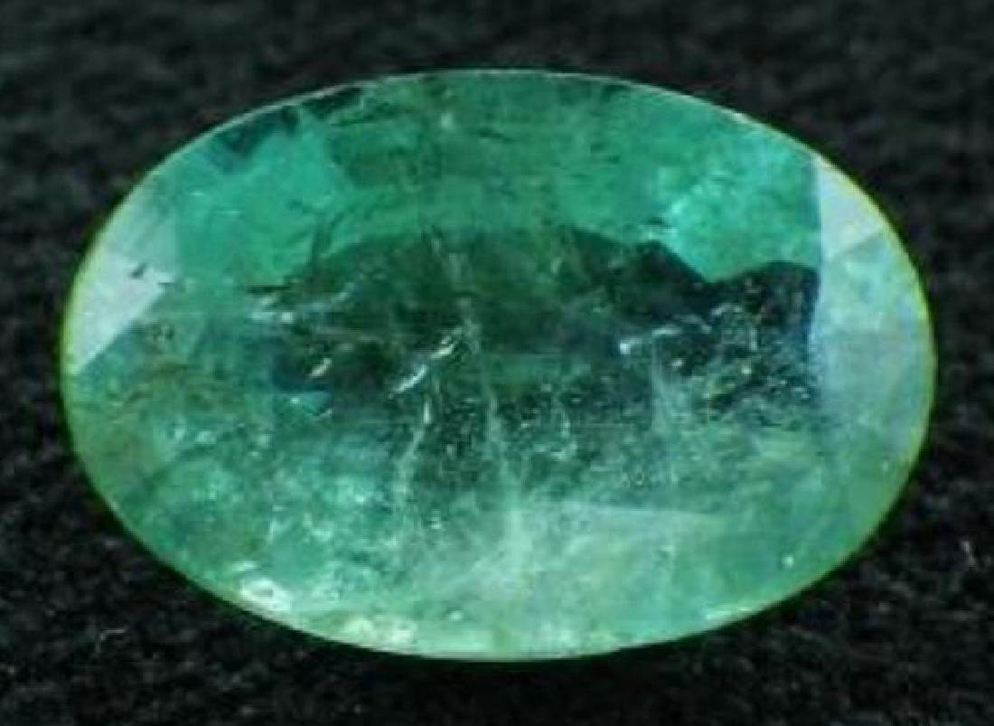 1.64ct Natural Green Colombian Emerald Appraised $1640