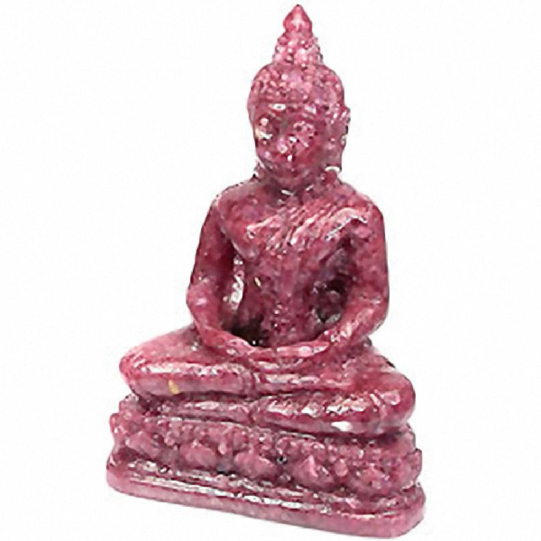 559ct. Buddha Figure Statue Red Pink Sapphire