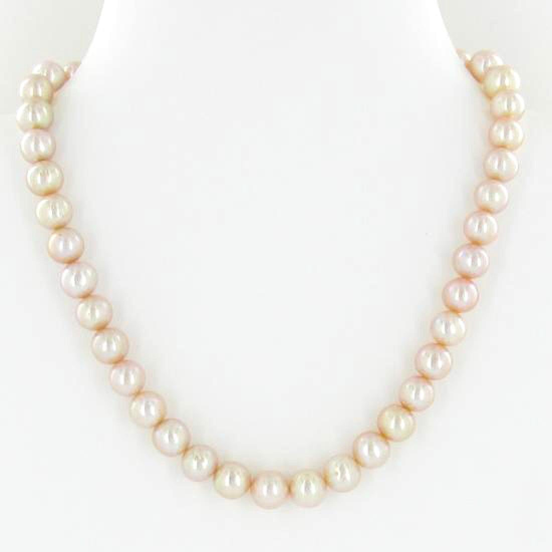 Scarce Peach Saltwater Pearl Necklace