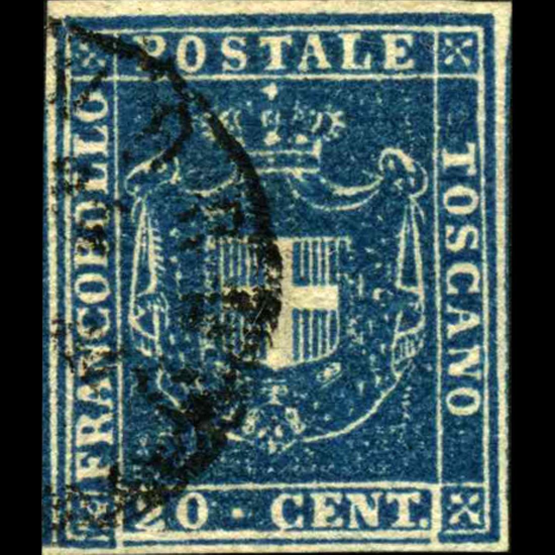 1860 Tuscany 20c Stamp