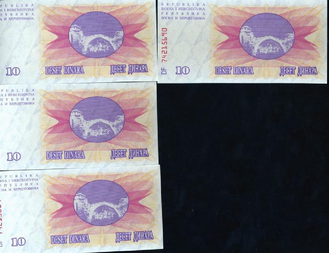 1992 Bosnia 10D Crisp Unc Note 10pcs Scarce Sequential
