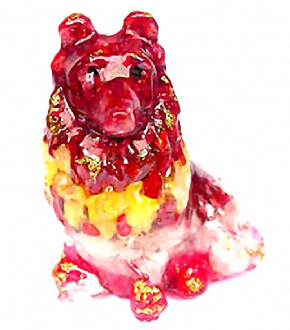 525ct. Dog Statue Fancy Color Sapphire~Topaz