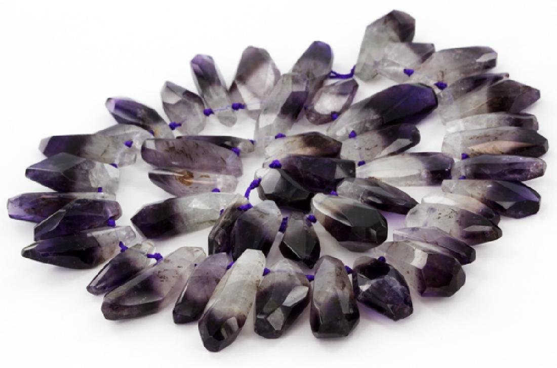 800ct Bi-color Natural Amethyst Crystal Strand