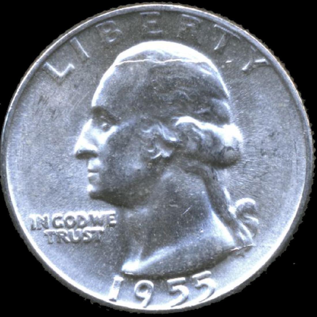 1955 Washington 25c Gem GEM+ Unc ERROR