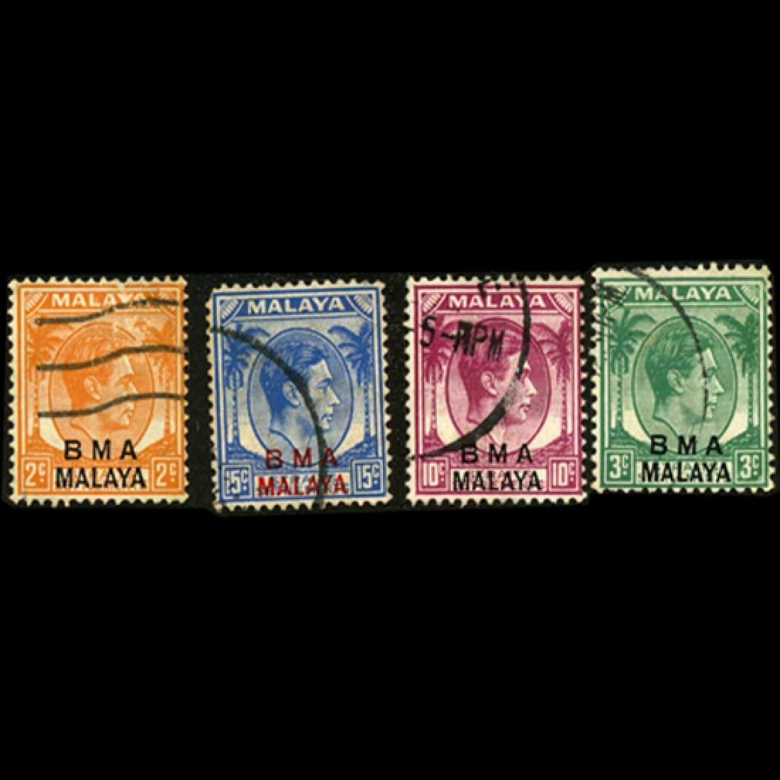 1945 GB Malaya George VII Stamp Set