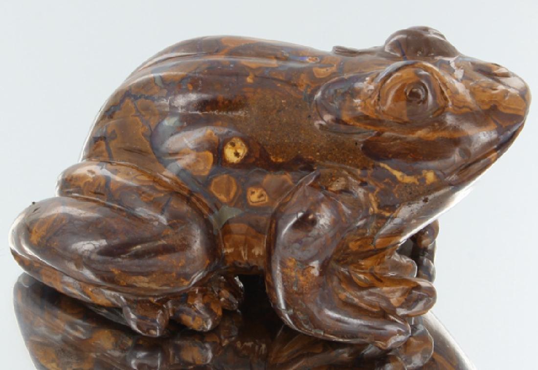 2240ct Natural Boulder Opal Carved Frog