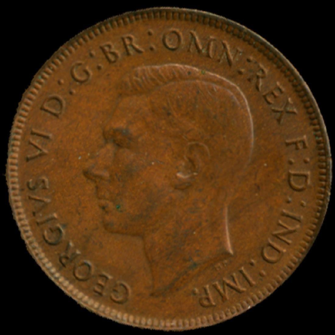 1944P Australia Large Penny Hi Grade AU