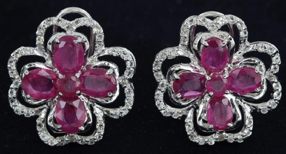 64.5twc Ruby Gold Vermeil Earrings
