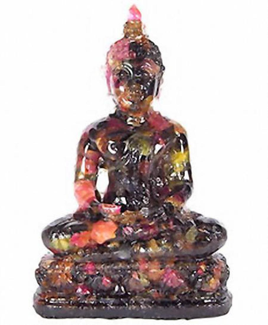 550ct. Sapphire Buddha Hunker Down Figure Statue