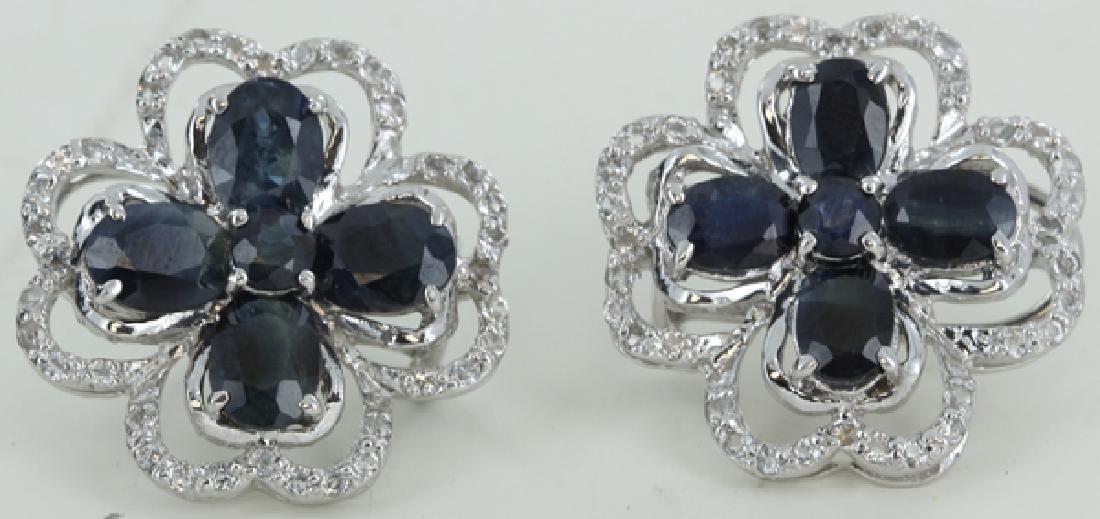 70twc Bl Sapphire Gold Vermeil Earrings