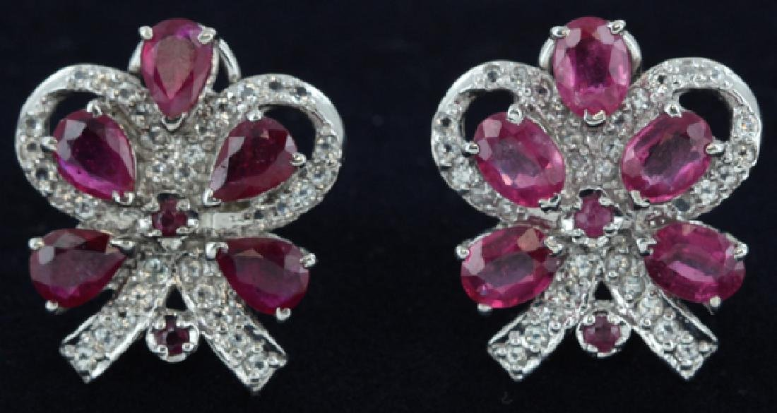 57.5twc Ruby Gold Vermeil Earrings