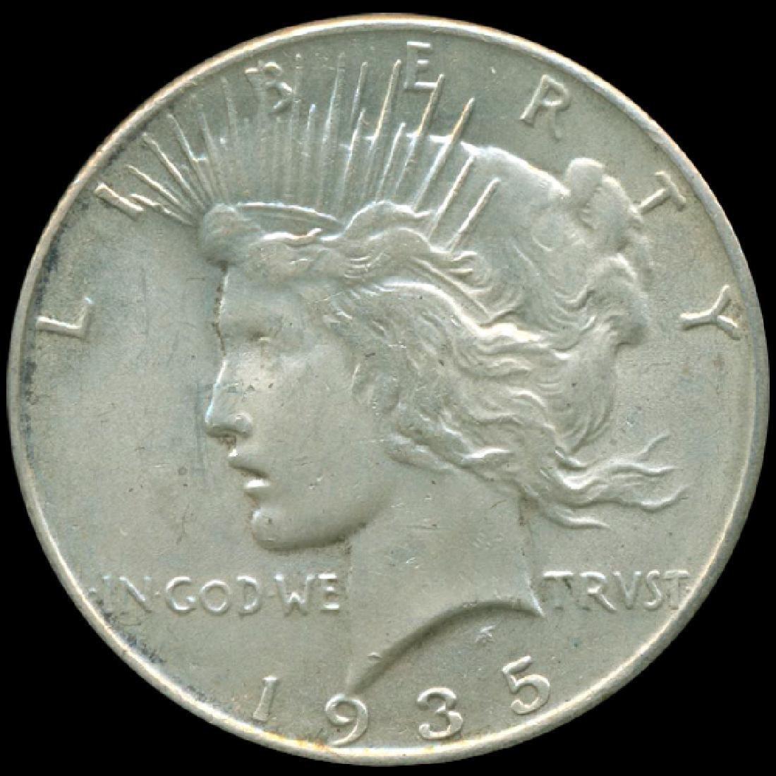 1935 Peace Dollar CHOICE+ Unc