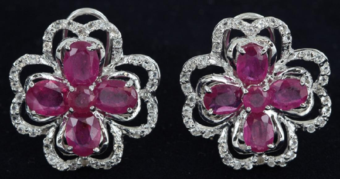 68twc Ruby Gold Vermeil Earrings