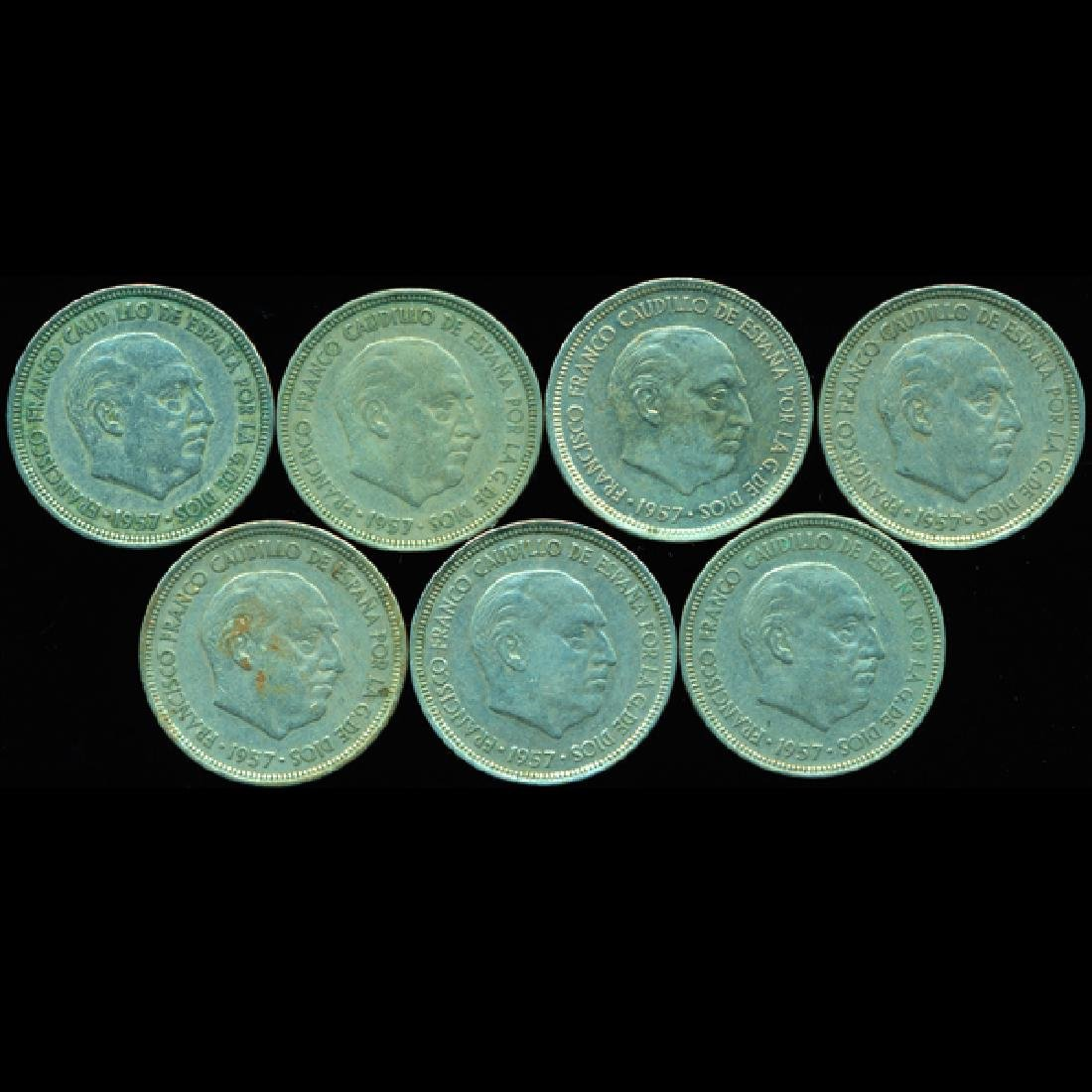1958-71 Spain 5p AU/VF Scarce 7pcs
