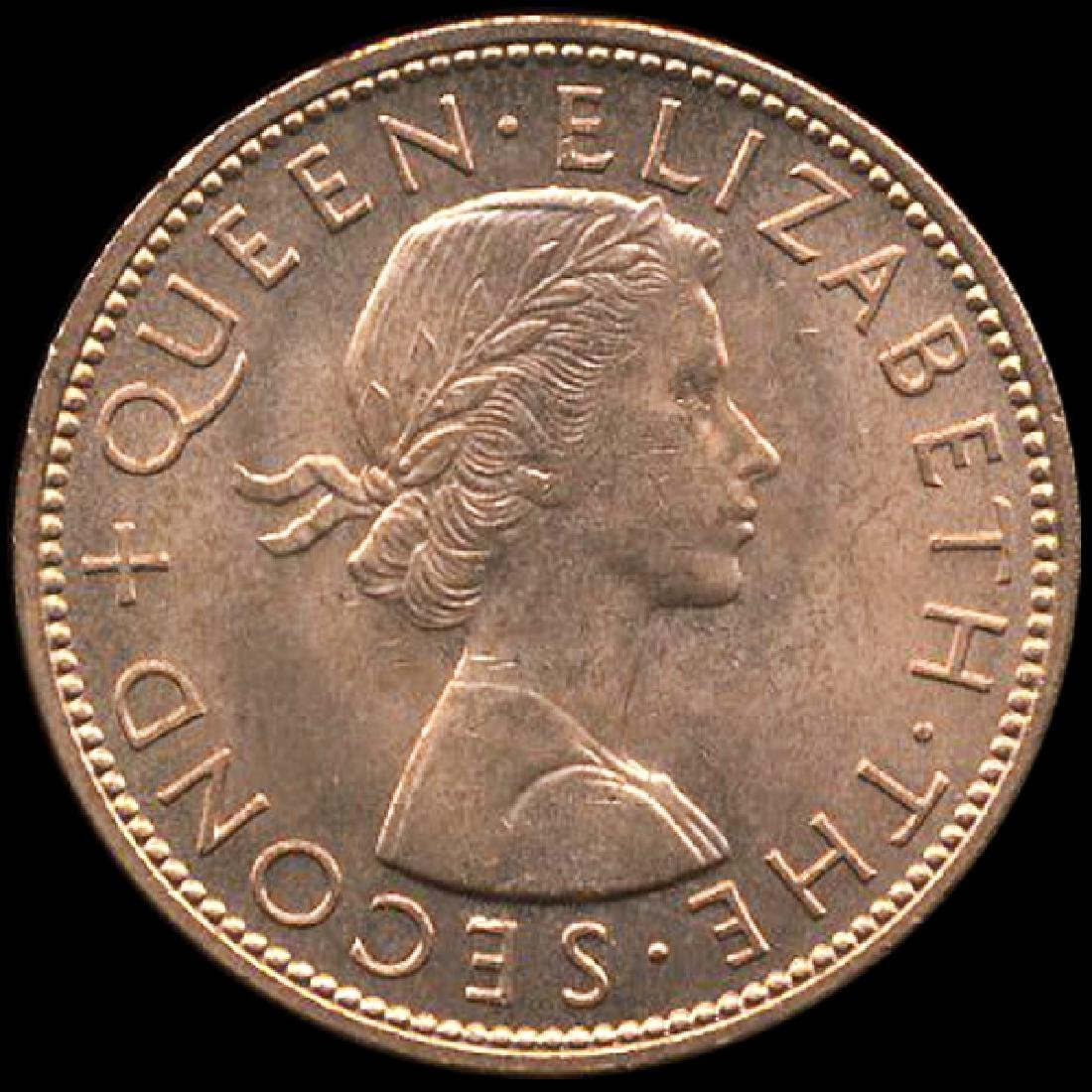 1963 New Zealand 1p CHOICE+ Unc