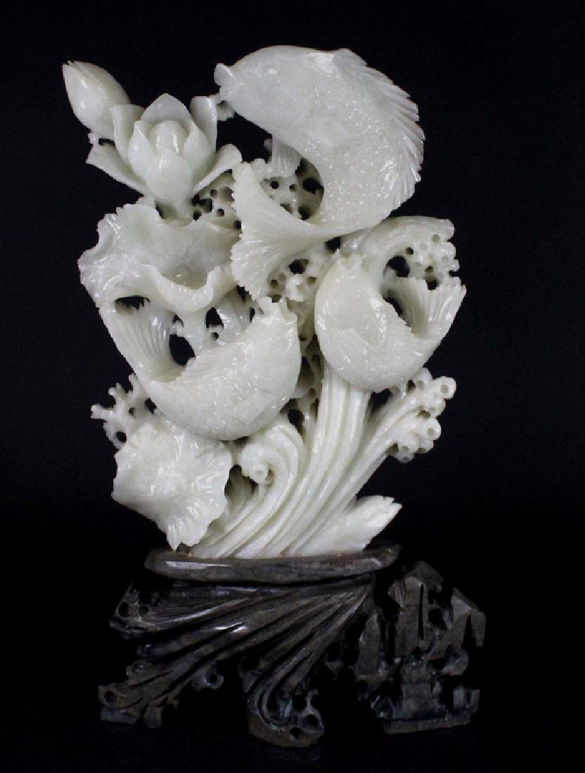 Intricate LARGE Chinese Jade & Shaoshan Stone Carving