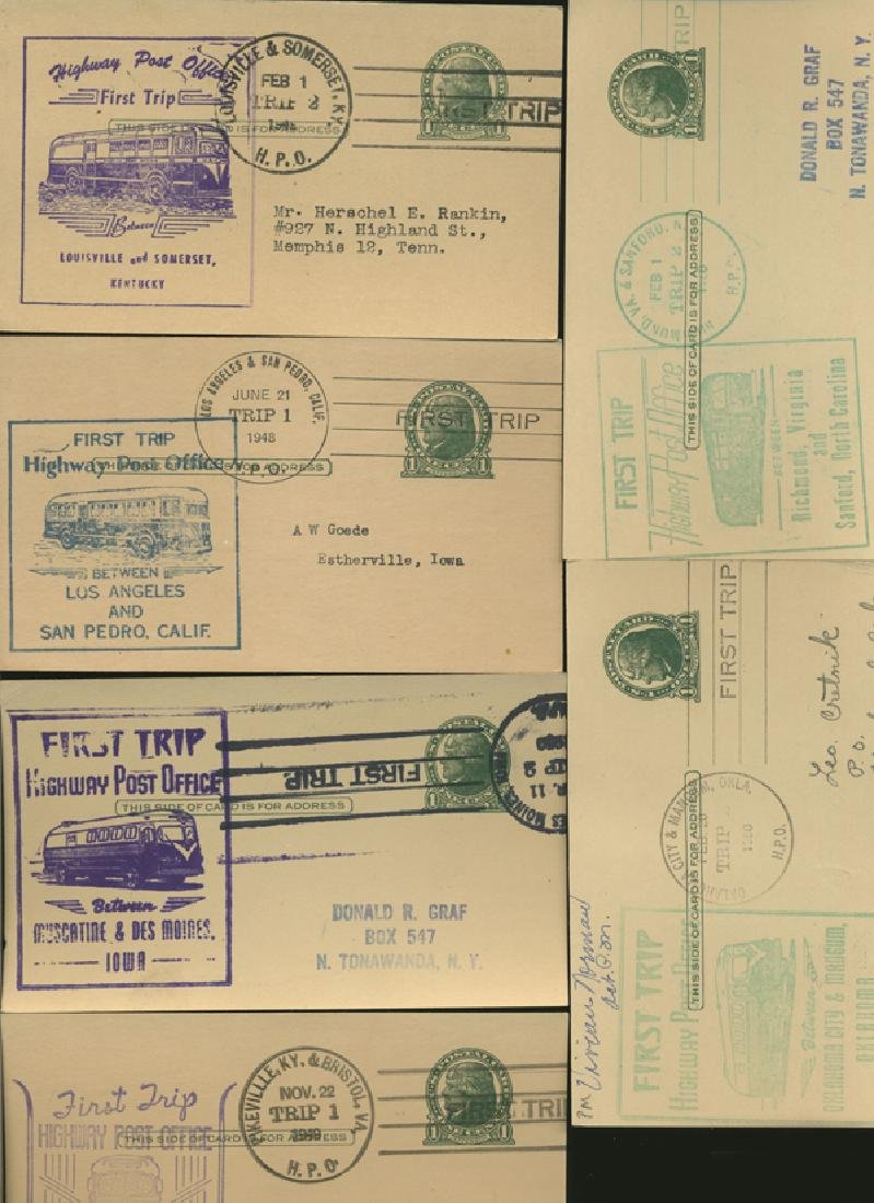 SCARCE 1950s HWY POST OFFICE 1ST DAY COVER COLLECTION