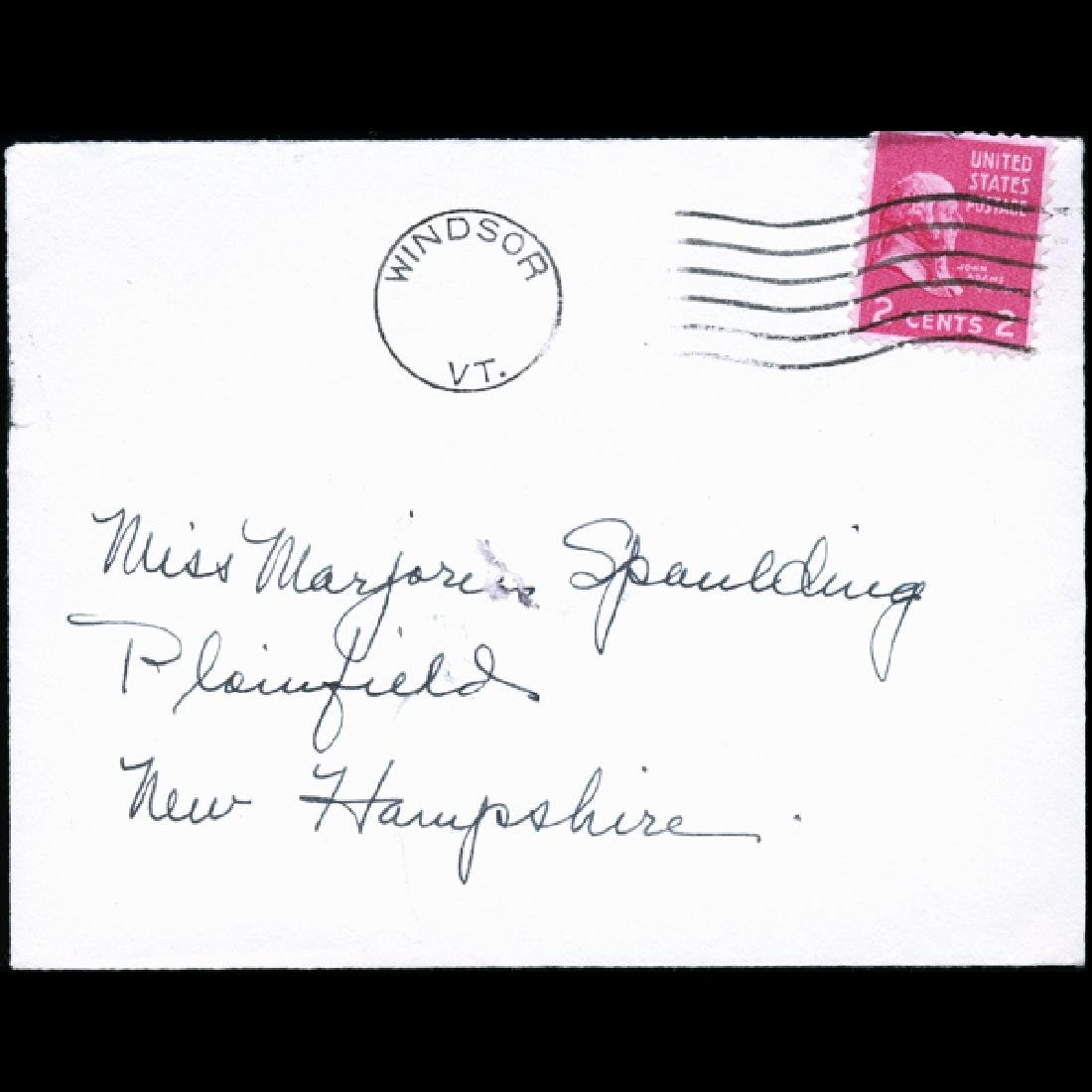 195? US Precancelled Postal Cover