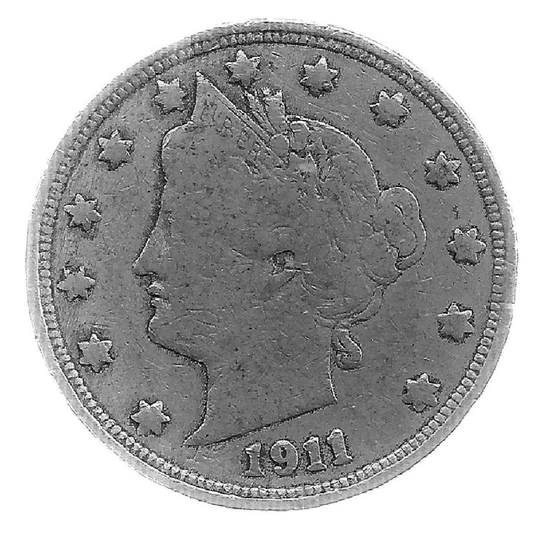 1911 Better Grade Lib 5c Partial Liberty Showing