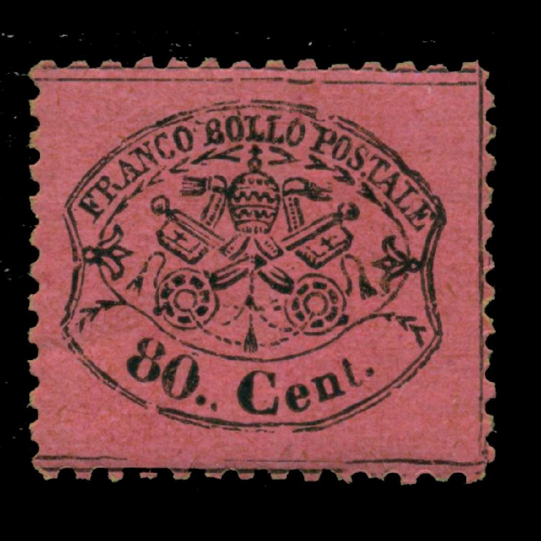 1868 Italy Papal States 80c Mint