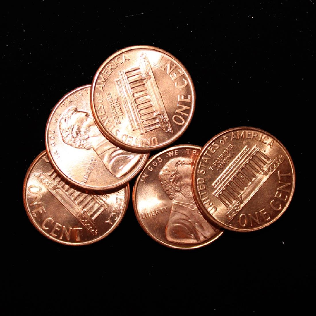 2001D 5 Choice/GEM BU Lincoln Cents from Unopened Bank