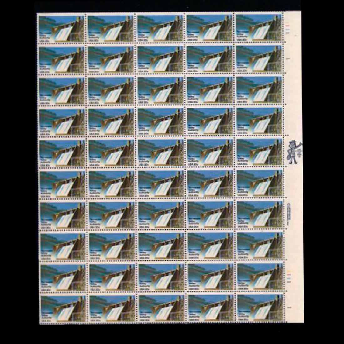 1983 US Sheet 20c TVA Stamps MNH Error RARE