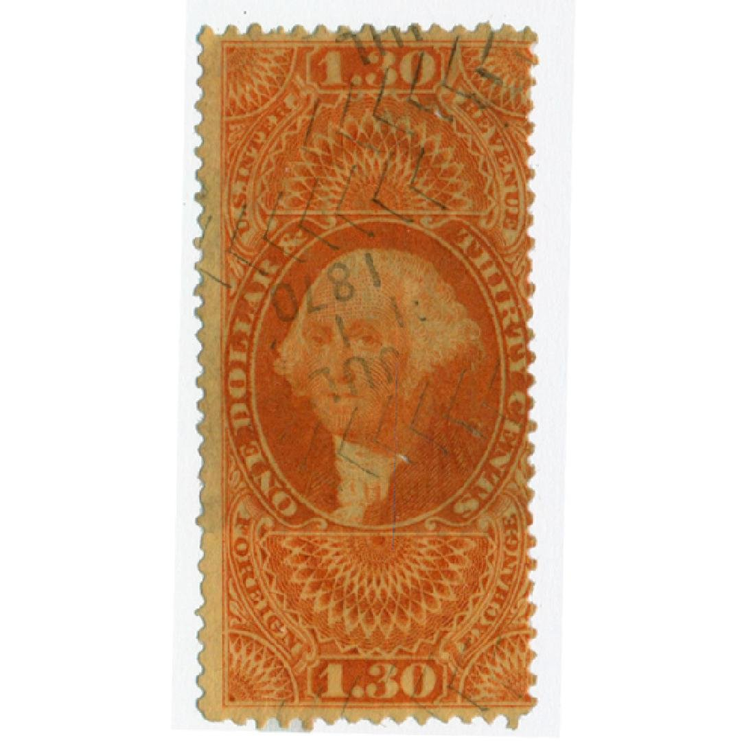 1861 US $1 Revenue Stamp Foreign Exch.