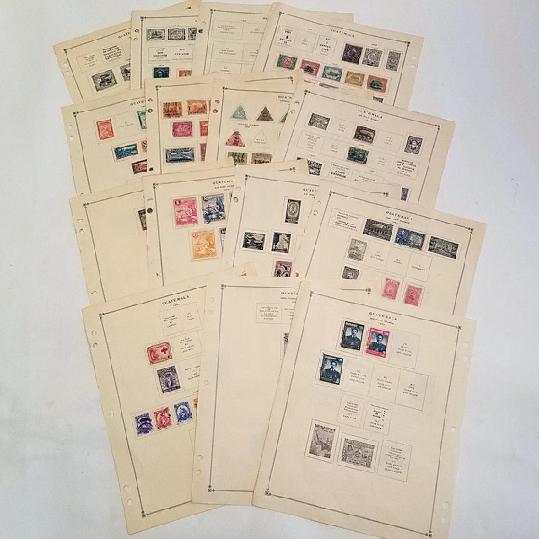 Guatemala Classic Stamp Album Pages 200+ Stamps