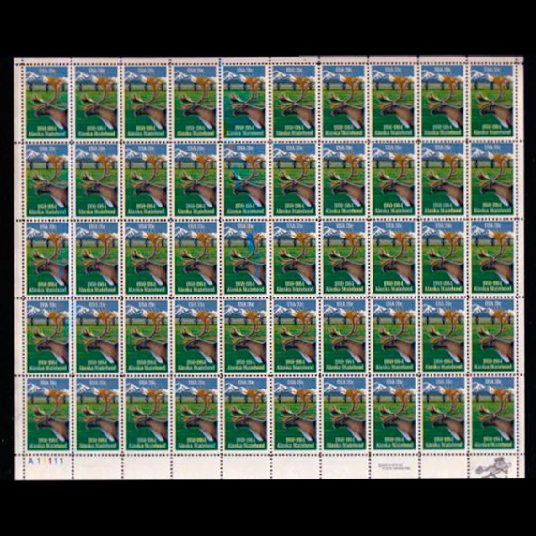 1984 US Sheet 20c Alaska Statehood Stamps MNH Scarce