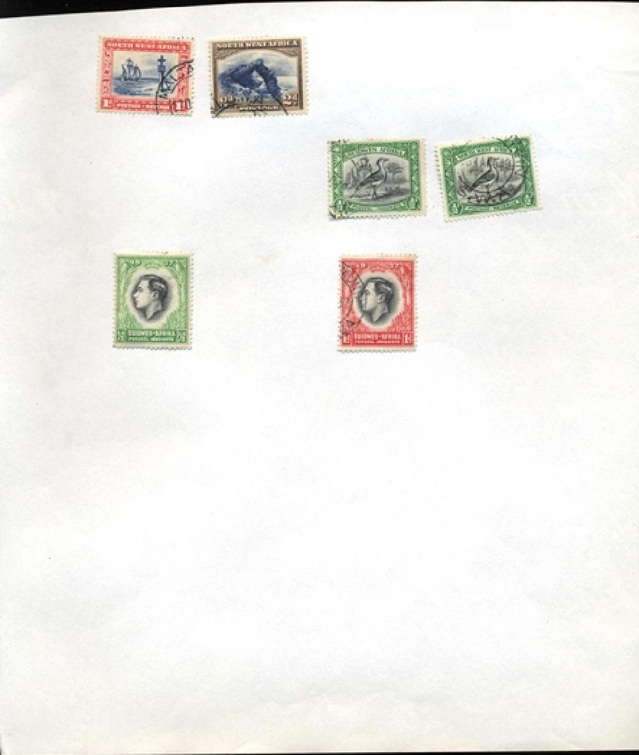 1930s SW. Africa Hand Made Stamp Album Page 6pcs