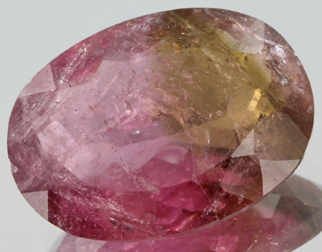 9.75ct Watermelon Tourmaline With Defects Oval Cut