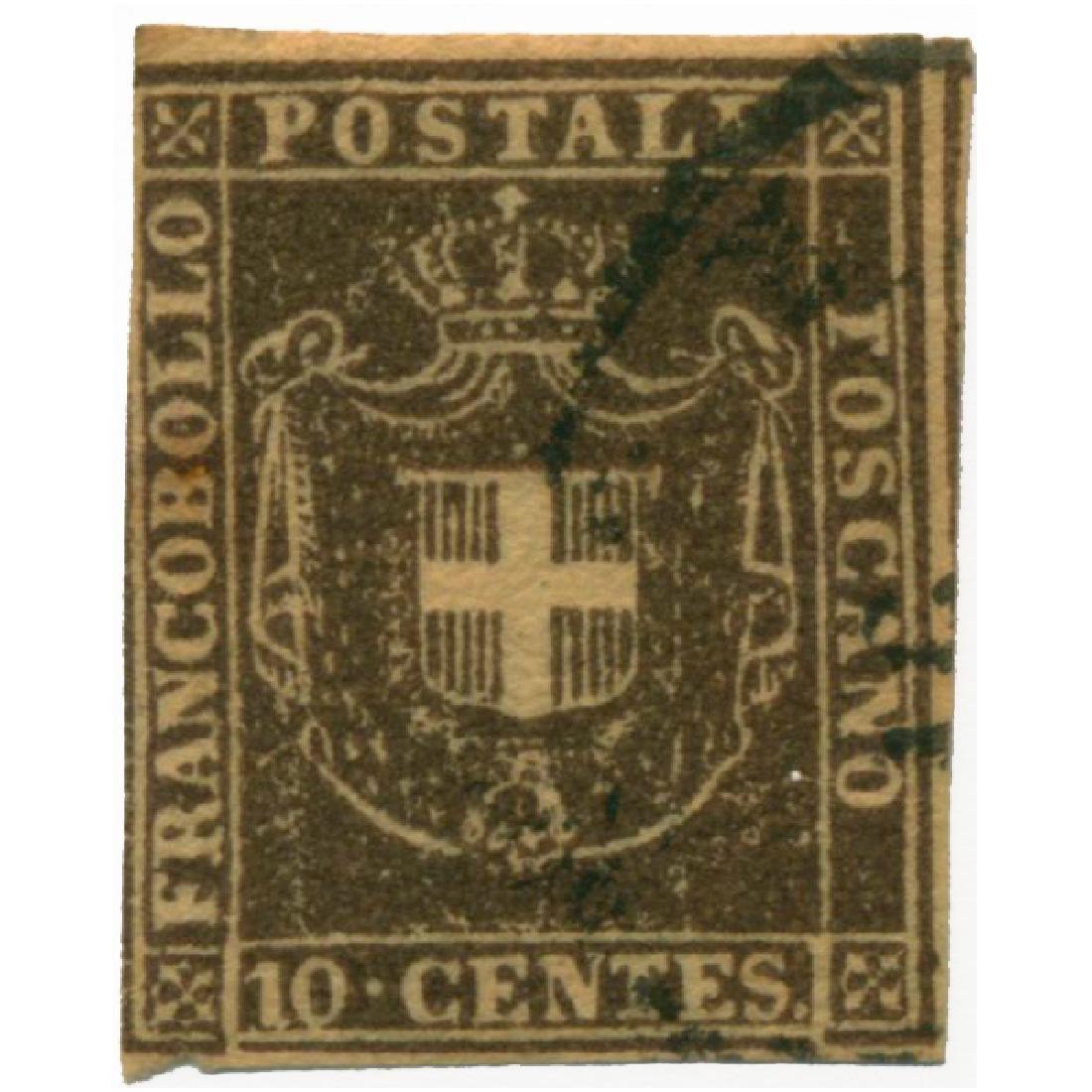 1860 Italy Tuscany 10c Used