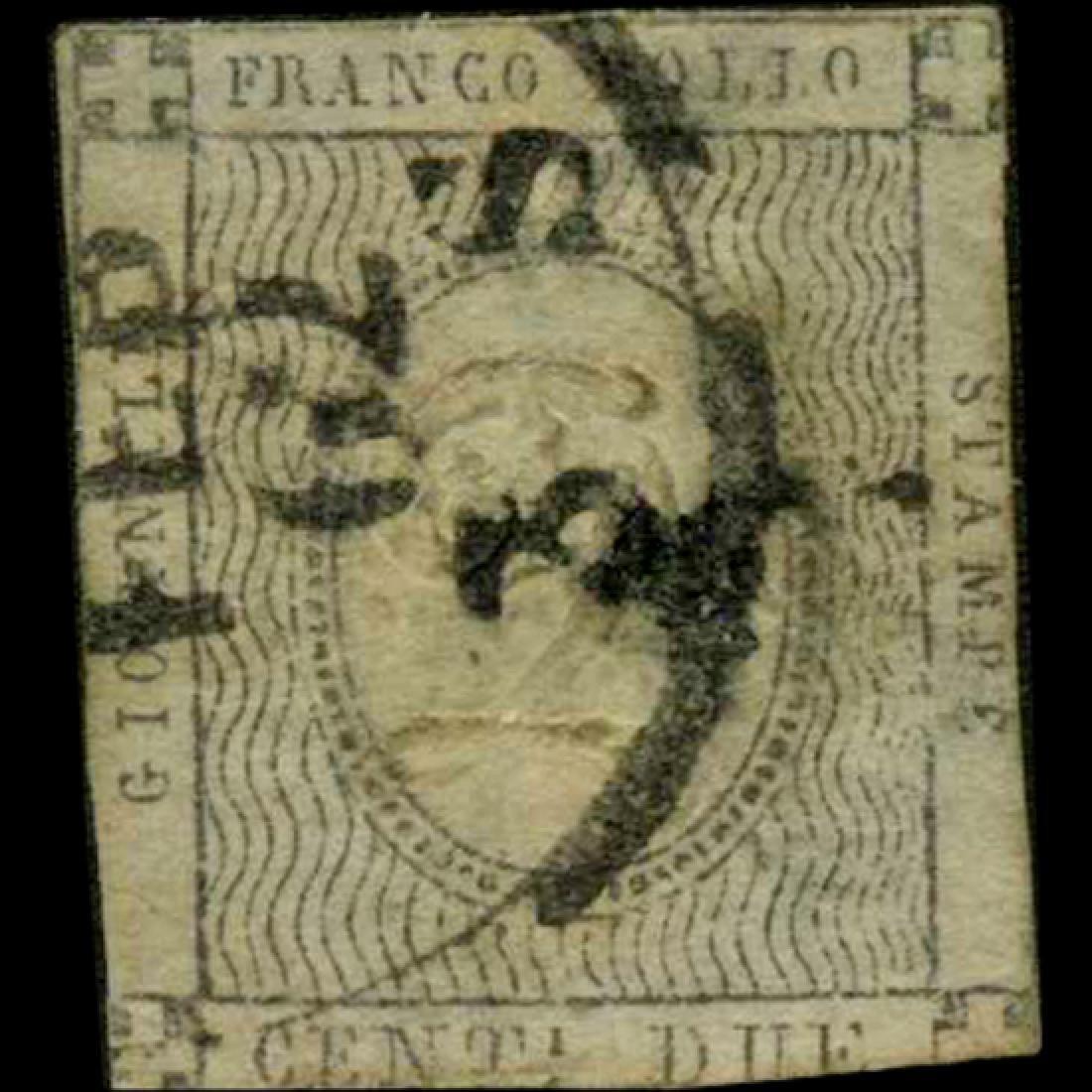 1861 Scarce Italy Sardina 2c News Stamp