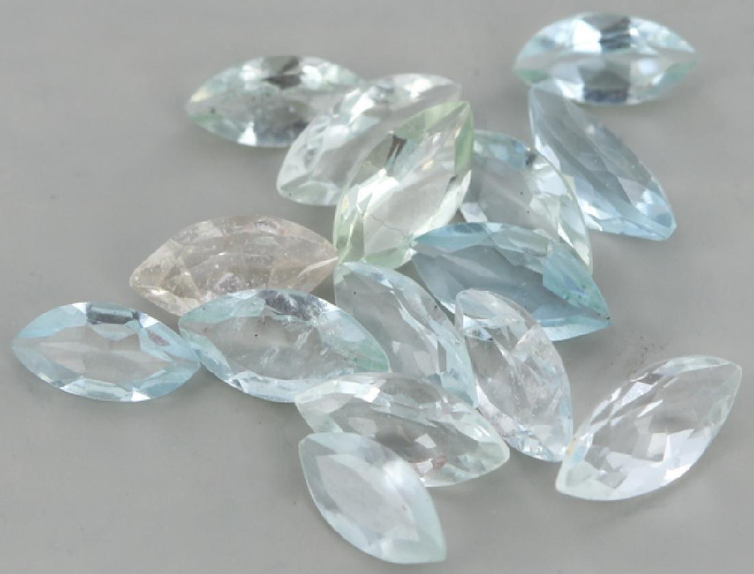 6.85ct Light Blue Aquamaline Parcel