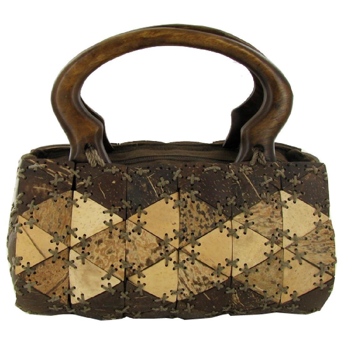 Handcrafted Polished Coconut Shell Handbag