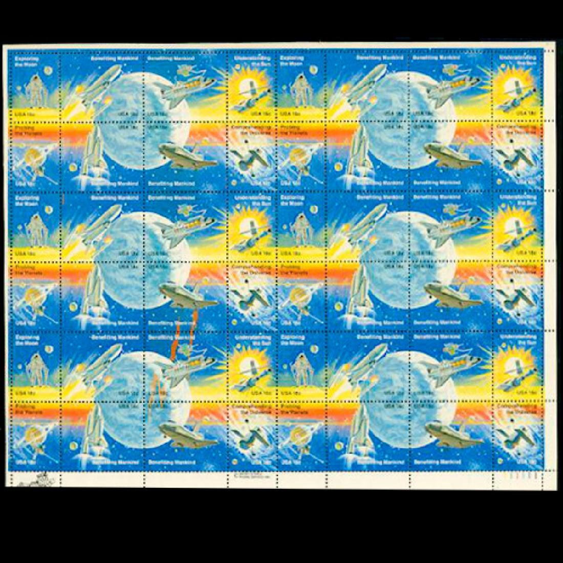 1981 US Sheet 18c Space Achievement Issue Stamps MNH