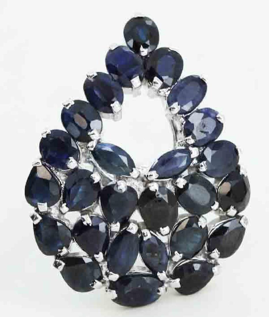 41.5twc Bl Sapphire Gold Vermeil Ring