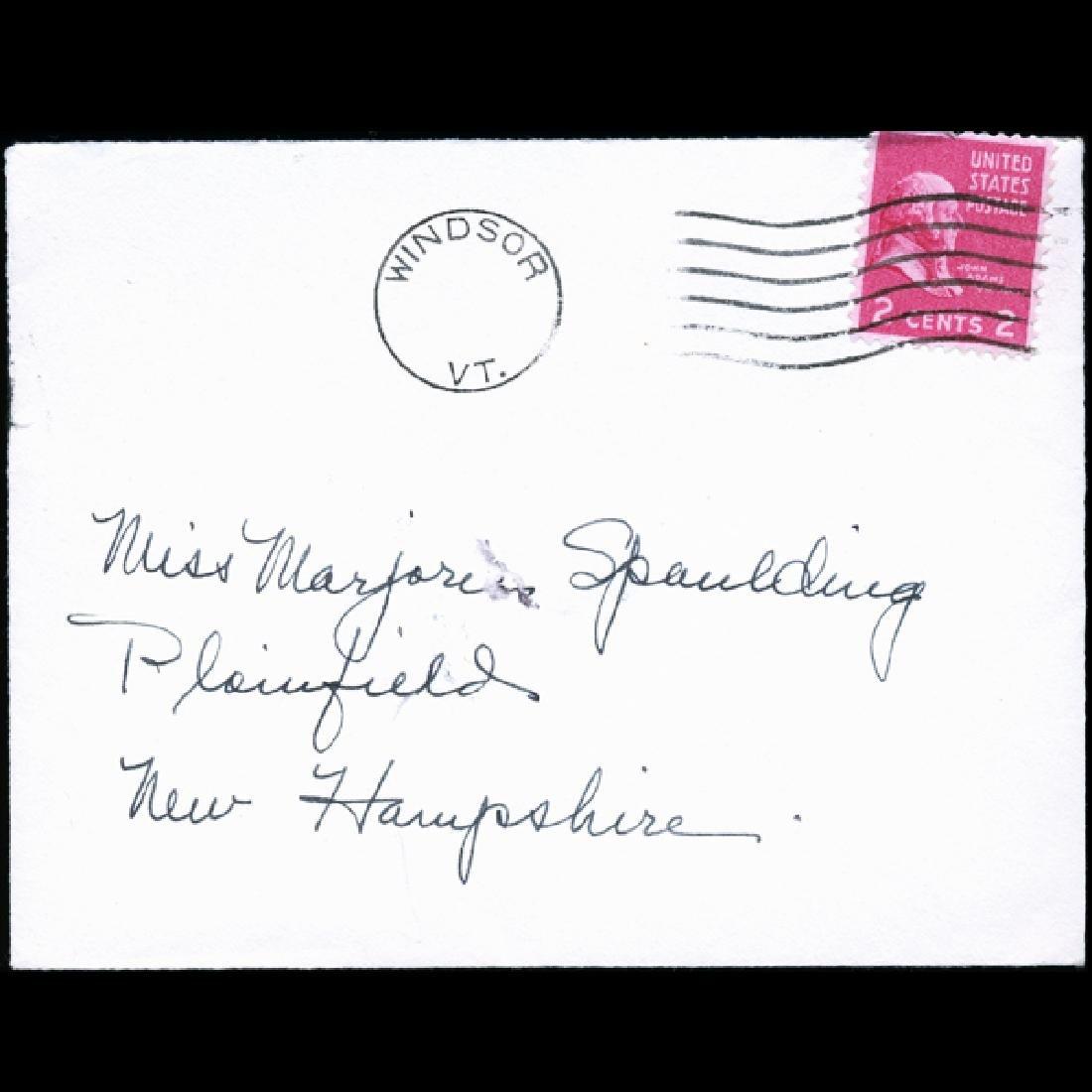 195? US Precancelled Postal Cover