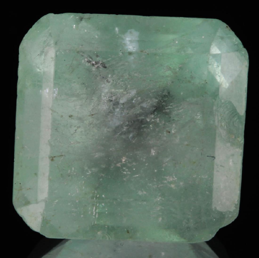14.24ct Mint Green Emerald Octagon Cut