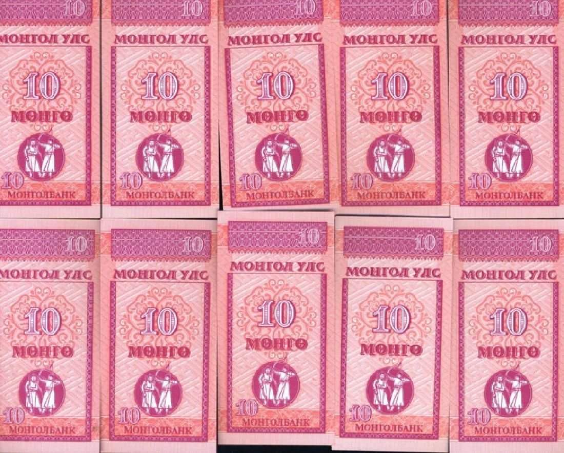 1993 Mongolia 10M Note Crisp Unc 10pcs Scarce