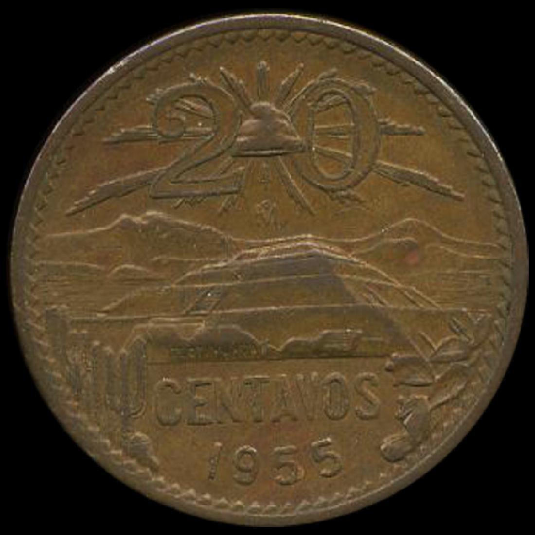 1955 Mexico 20c AU+