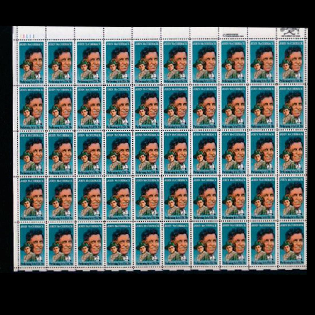 1984 US Sheet 20c John McCormack Stamps MNH Scarce
