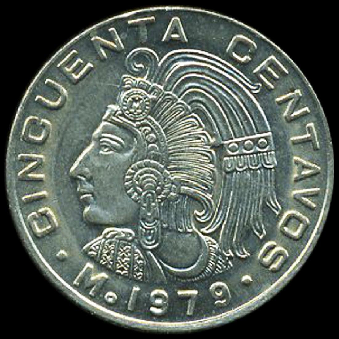 1979 Mexico 50c GEM+ Unc ERROR