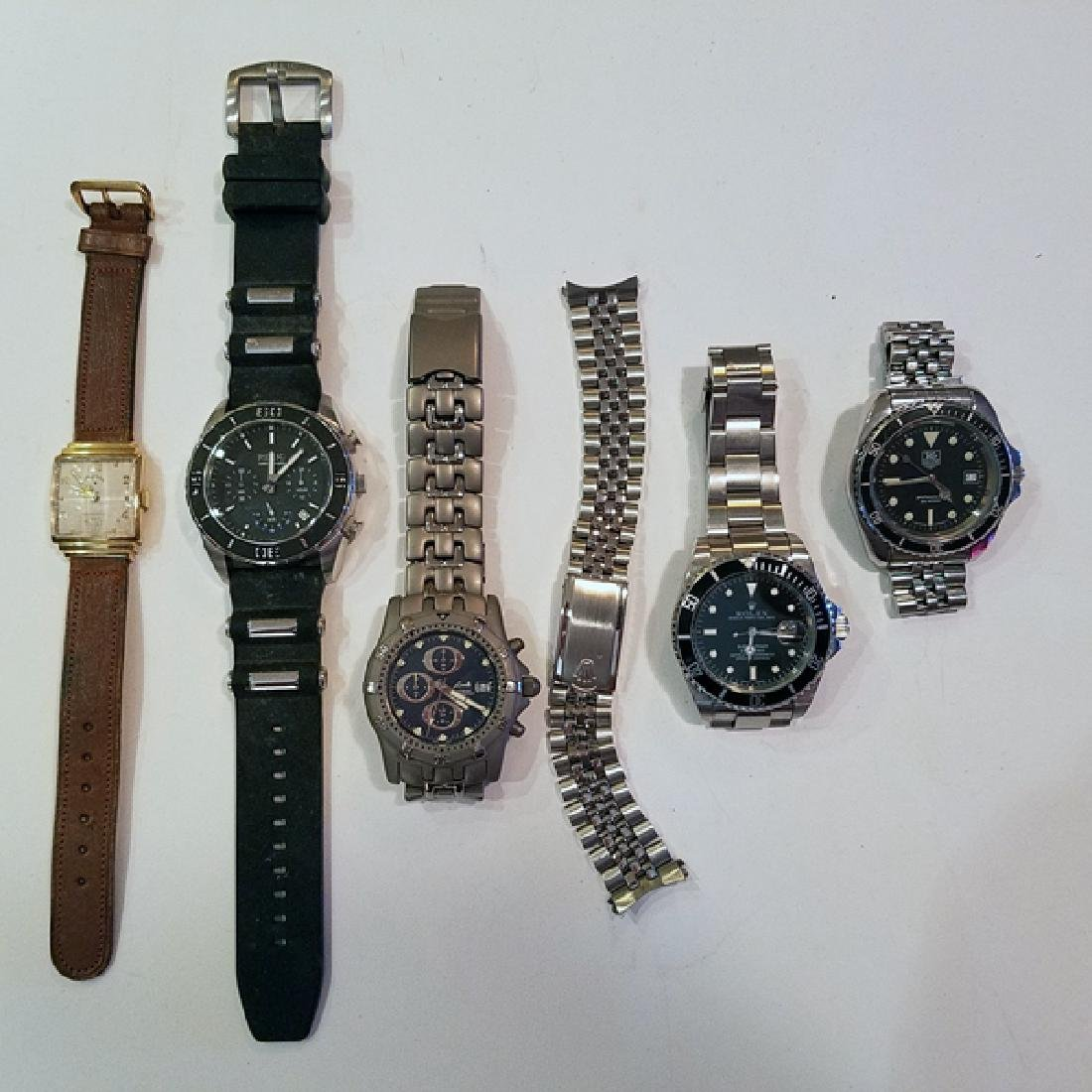 Men's Watches New & Vintage Incl Rare TAG 7 Pcs