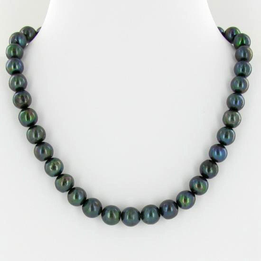 Scarce Black Saltwater Pearl Necklace