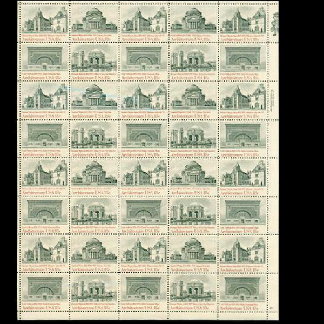 1981 US Sheet 18c American Architecture Issue Stamps